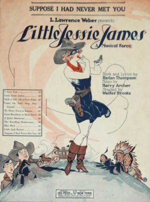 Little Jessie James Reproduction by Unknown Artist for Musical Sheet by Harlan Thompson , Harry Archer and Walter Brooks