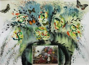 Les Fleurs et Fruits Salvador Dali original lithograph limited edtion for sale