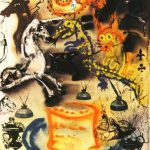 A Salvador Dali print titled Who Stole the Tarts