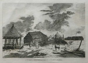 A View At Bolcheretzko James Cook 1784 Final Voyage John Webber engraving