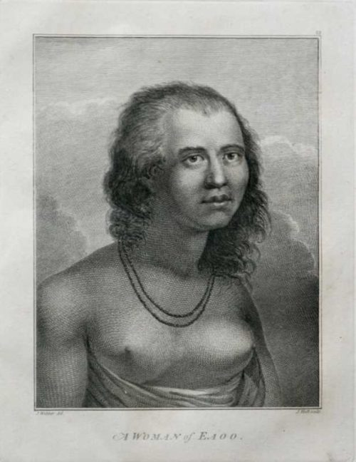 A Woman of Eaoo Hawaii James Cook 1784 final voyage artist John Webber engraving