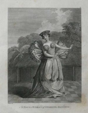 A Young Woman of Taheite DancingTahiti James Cook 1784 Final Voyage Dancing