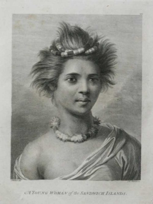 A Young woman of the Sandwich Islands 1784 James Cook Final voyage Artist James Webber for sale