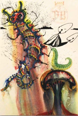 Advice From A Caterpillar Alice In Wonderland Salvador Dali original