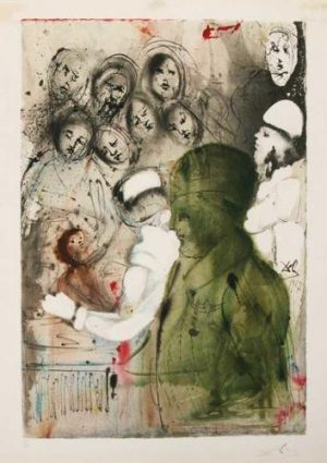 Aliyah Convenant Eternal Circumcision Salvador Dali original lithograph for sale