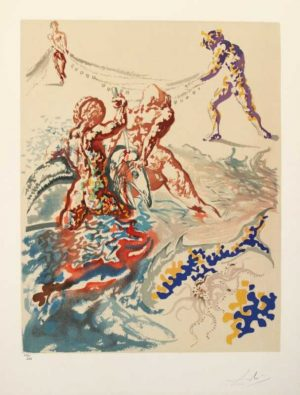 Aliyah Suite Let Them Have Dominion Salvador Dali original signed limited edition lithograph