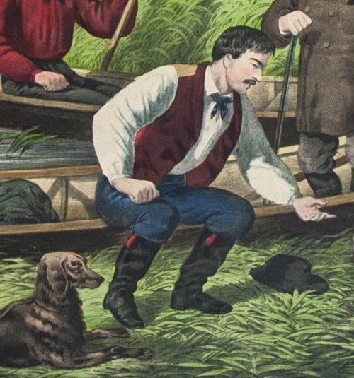 American Hunting Scene Duck shooting detail.jpg