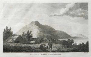 An Infide in a Hippah in New Zealand James Cook final voyage 1784 engraving