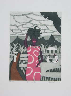 Banana Girl etching by Julian Trevelyan for sale