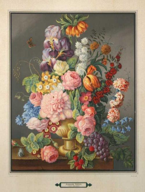 """""""Bouquet 4"""" A Nigg Joseph Lithograph. This Antique Botanical Print is For Sale"""