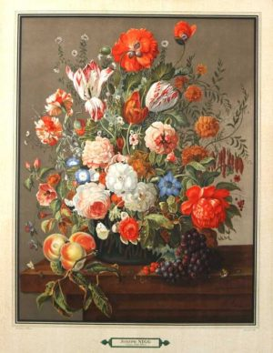 """Bouquet 6"" A Nigg, Joseph Lithograph. This Antique Botanical Print is For Sale."
