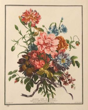 """Bouquet No. 25"" Tessier, Louis Etching. This Antique Botanical Print is For Sale"