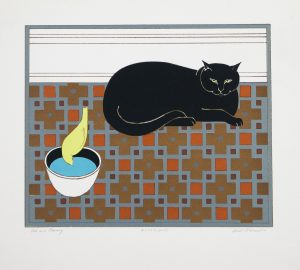 Cat and Canary original artists proof serigraph by Will Barnet for sale