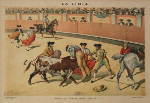 Cojida Del Picador Carlos Puerto La Lida Chromolithograph