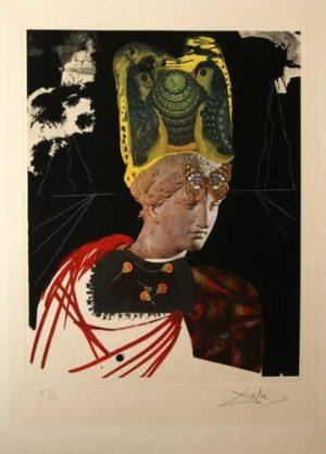 Crazy Crazy Crazy Minerva original lithograph Salvador Dali