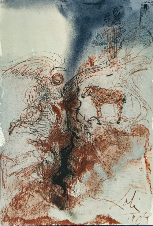 Dali Biblia Sacra The He-Goats of the Wild She-Goats