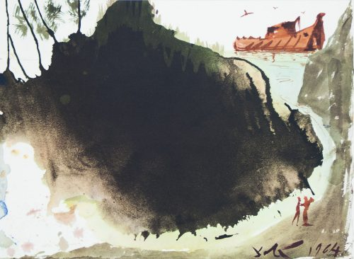 Noah's Ark bibilia Sacra Salvador Dali lithograph 1964