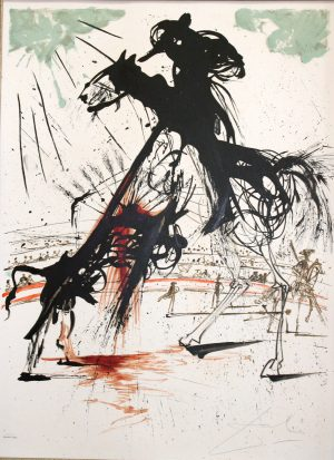 Dali Bullfight no. 5 original signed limited edition lithograpg by Salvador Dali.jpeg.