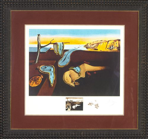 Persistence of Memory original lithograph by Salavdor Dali for sale
