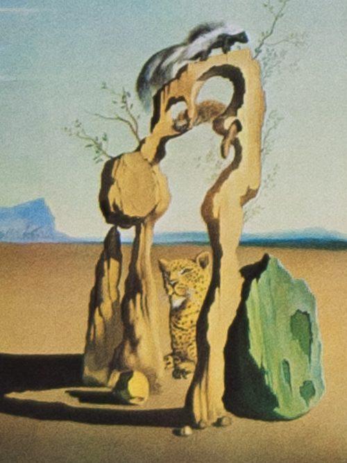 Dali savage beasts in the desert detail 1