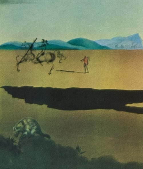 Dali savage beasts in the desert detail 3