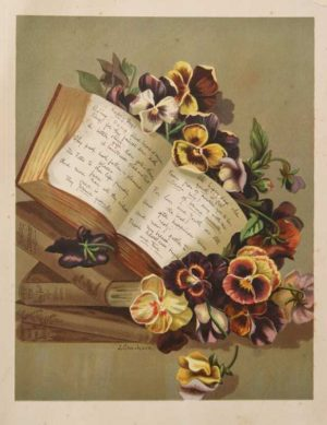 Happy Days chromo;lithograph by clarkson is a very sweet antique print. Very vintage.