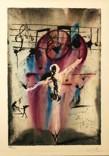 Hatikvah Hope The Israeli National Anthem Aliyah .series Original lithograph Salvador Dali