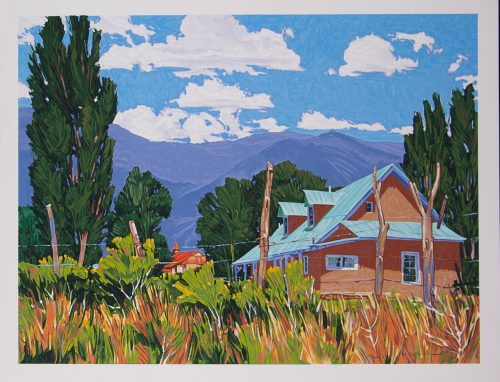 William Hook Turquoise Roof original serigraph for sale