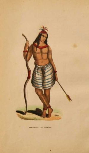 Inboorling Van Formosa Taiwan native rare hand colored lithograph for sale