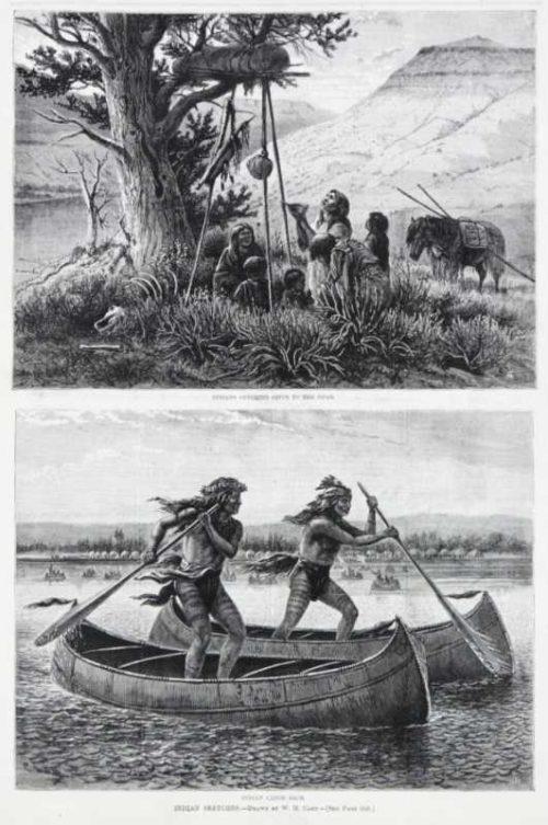 Indian Sketches Harpers Weekly Wood Engraving