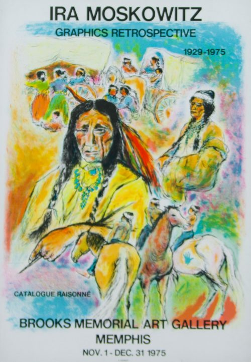 Ira Moskowitz Graphics Retrospective 1975 Poster