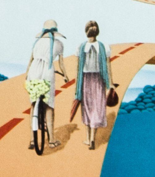 Le Cliche, M. Pellus original lithograph 1977 detail 1