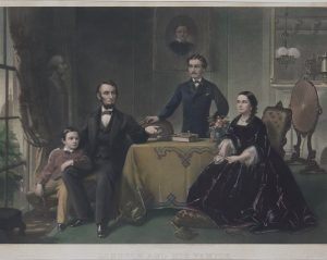 Lincoln and His Family Philadelphia 1866 mezzotint by Sartain for sale
