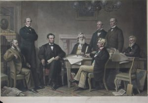 first reading of the emancipation proclamation before the senate 1866