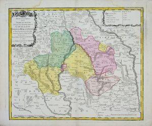 Tabula Geographica Territorium Civitatis Svevo=Hallensis by Homann 1762