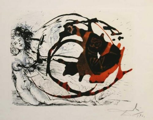 Milky Way La Voie Lactee The Mythology Series Salvador Dali Original aquatint Etching