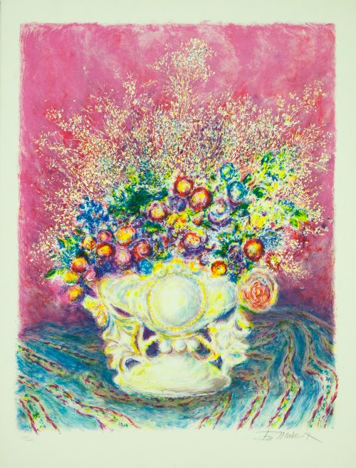 Ira Moskowitz flowers original limited edition lithograph