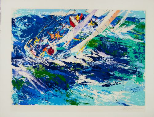 high Seas sailing original LeRoy Neiman printers proof serigraph