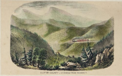 Panorama of Catskill Mountains N.Y. detail 4