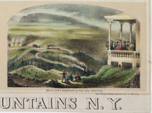 Panorama of Catskill Mountains N.Y. detail 7