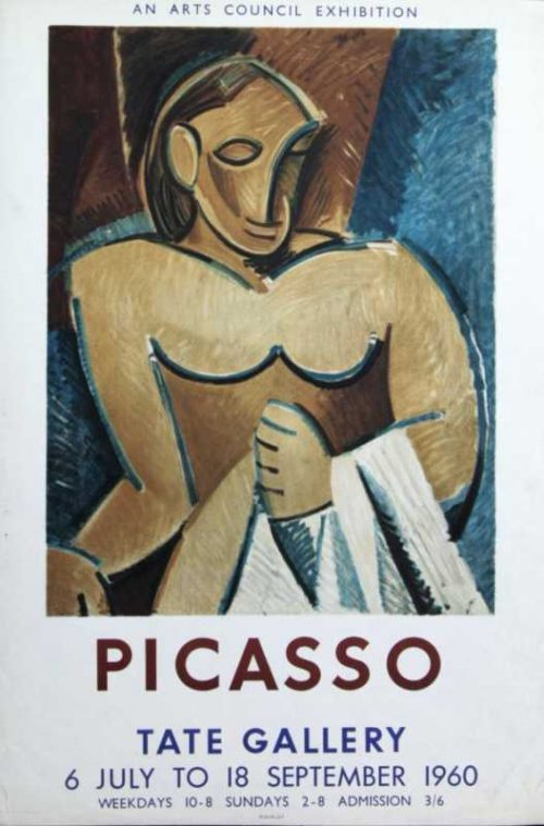 Picasso Arts Council Exhibition 1960 lithograph poster Tate Gallery for sale
