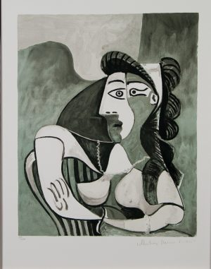 Femme Accoudee au Fauteuil by Picasso (aft.) lithograph The Estate Collection for sale
