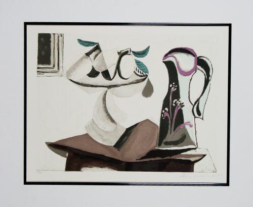 Nature Morte au Citron et a la Cruche lithograph Picasso Estate Collection.jpg.com