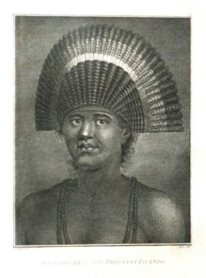 Poulaho King of the Friendly Islands James Cook Final Voyage John Webber 1784 engraving for sale