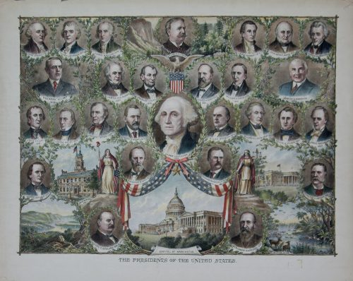 presidents of the Untied Sates with scenes from around the country