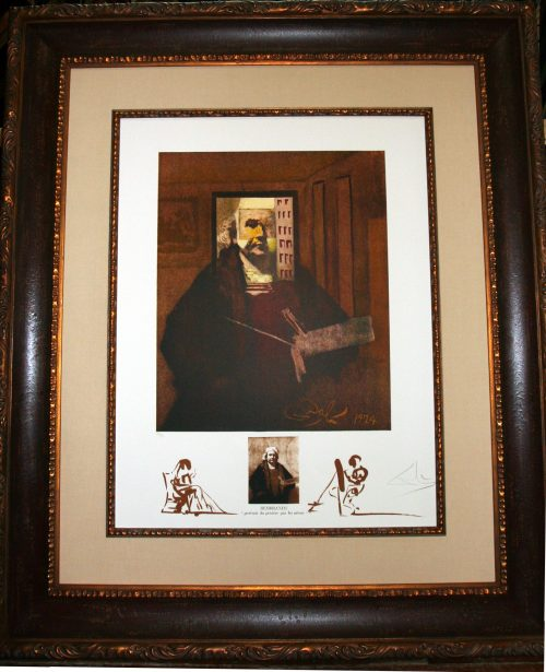 Rembrandt Portrait Du Peintre Par Lui-Meme Salvador Dali Changes in Great Masterpieces series original lithograph for sale