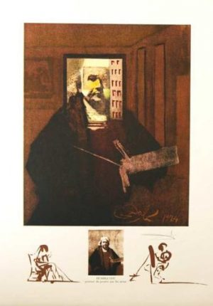 Rembrandt Salvador Dali Changes in Great Masterpieces series lithograph for sale