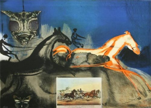 Salvador Dali American Trotting Horse No. 2 original lithograph for sale