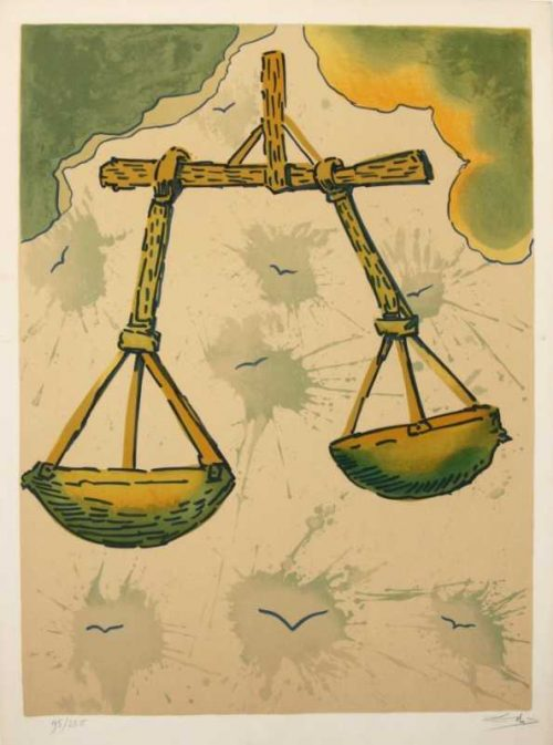 Signs of the Zodiac Libra Salvador Dali Original signed Limited Edtion Lithograph