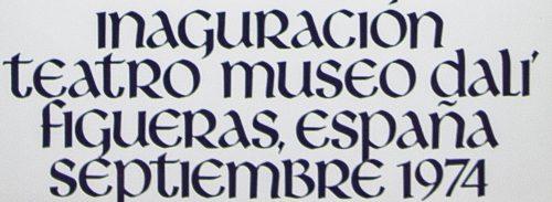 inaguracion Teatro Museo 1974 Salvador Dali poster detail